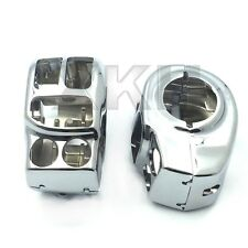 Chrome Switch Housing Cover Kit For Harley 14-16 Touring Trike Tri Glide Ultra