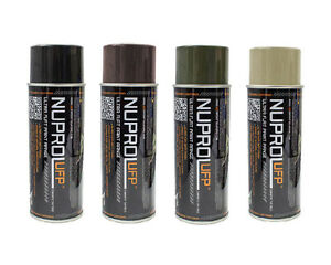 Nuprol UFP Flat Paint - One Can - Black - Earth Brown - Earth OD - Earth Tan