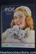 McCall's Jan 1944 Andrew Loomis Art, William E. Barrett Camel cigarettes ad;