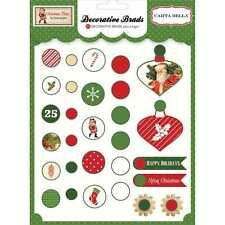 NEW CARTA BELLA CHRISTMAS TIME DECORATIVE BRADS