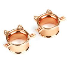 Cat Screw Ear Gauges Flesh Tunnels Plugs Stretchers Expander Piercings Earrings