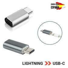 Adaptador de cable lightning a USB tipo C carga de iPhone Apple a Android