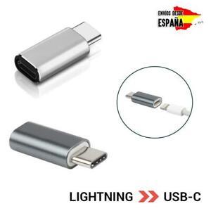 Adaptador de cable lightning a USB tipo C carga de iPhone Apple a Android