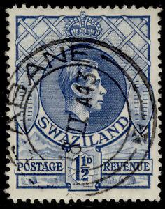SWAZILAND GVI SG30a, 1½d light blue, FINE USED.