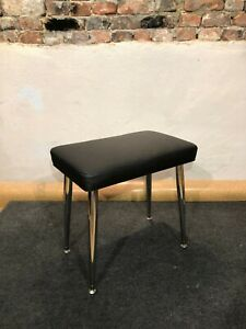 Genuine Leather Wurlitzer 200 series BENCH with Legs and Plates - Black