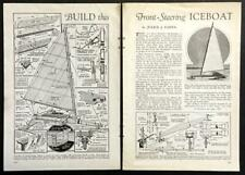 13' Ice Boat 1934 How-to Build Plans Front Steering Tri-blade 50mph 2 seater