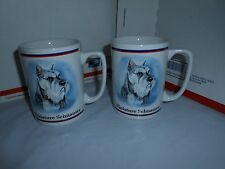 Set Lot 2 Miniature Schnauzer Coffee Mugs Portraits R Maystead Papel Freelance