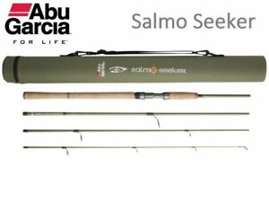 Abu Garcia SALMO SEEKER Carbon Travel Spinning Rod 4PC 8 9 10ft with Tube