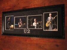 U2 - FULLY SIGNED & CUSTOM FRAMED PHOTO DISPLAY - EXTREMELY RARE!