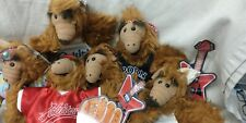 Vintage Lot Of Six 1988 Alf Burger King Plush Hand Puppets Just $40!