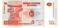 CONGO AFRIQUE Billet 10 FRANCS 2003 COUPE LUBA Neuf UNC