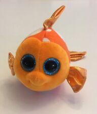 "TY Beanie Boos - SAMI the Orange & White Fish (Glitter Eyes) 6"" No Hang Tag"