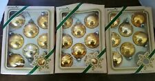 Vintage Pyramid Gold tone mercury Decorative Christmas Ball Ornaments