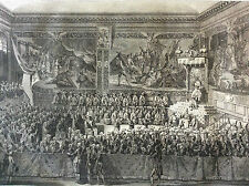 Révolution française Lit de justice tenu à Versailles eau-forte 1804 Duparc