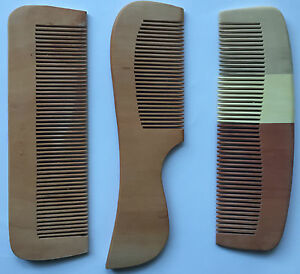 Wooden Hair Comb Anti Static Massage Natural Brush Regular / Wide Teeth Handmade