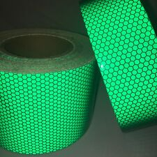 New Green High Intensity Reflective Tape Vinyl Self-Adhesive 50mm×3m Roll