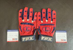 David Ortiz SIGNED + GAME USED Batting Gloves Psa/Dna Coa RARE