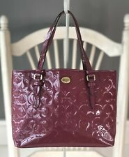 COACH Peyton OP Art Embossed Passion Berry Patent Leather Small Tote F50540