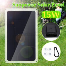 Portable 15W 5V Solar Power Panel USB Charging Phone Charger For Outdoor Camping