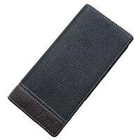 Men's Leather Bifold Credit Card Holder Long Wallet Checkbook Billfold Purse