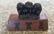 vintage 3 Wise Monkeys Shamrock Texas Souvenir monkies see no evil