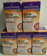 FIVE BOXES (300ct) New Chapter Bone Strength Take Care Slim Tablets Exp 1/2021