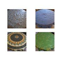 4 nappes rondes linge table vintage art déco design XXe PN France