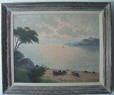 Lake George NY New York? Vintage Estate Oil Painting Signed FM Marten? Landscape