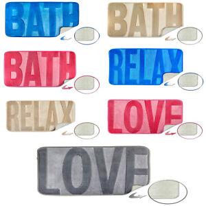 SPA Memory Foam Soft Sink Your Feet Non-Slip Bath Mat 45cm x 65cm, 3 Designs