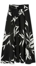 Country Road Capsule Print Maxi Skirt Skirt sz8 Black Tropical Linen NWT