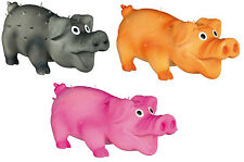 Latex Bristle Pig Dog Toy with Polyester Fleece Filling & Sound Squeaker