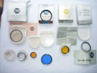 B&W Filter Konvolut in verschiedenen Ausführungen - alle sauber verwendbar