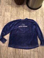 + - Velvet Monkees Pullover Sweatshirt 90er Kult Pulli Mega Rar blau L bedruckt