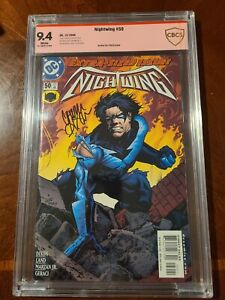 NIGHTWING 50 DC COMICS (12/2000) CBCS 9.4 WHITE PAGES SIGNED BY CHUCK DIXON