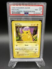 New listing 1999 Pokemon Tcg WotC #58 Pikachu Red Cheeks Base Set Shadowless Psa 8 Nm-Mt