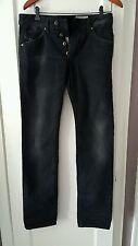 DIESEL Mens 'Darron' Slim Tapered Black Wash Jeans NWT W28 L32