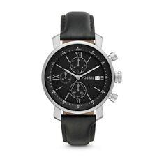 Fossil Rhett Chronograph Black Leather Watch