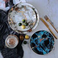 Marble Ceramic Plate Unique Dinner Set Dish Dessert Plate Dinnerware Cake Tray