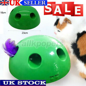 Play Interactive Cat Toy Mouse Tease Electronic Pet Toys UK HOT Funny Toys