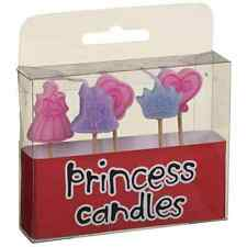Princess Candles Pack of 5 Themed Birthday Party Cocktail Stick Cake Decorations