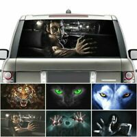 Thriller Car Rear Windshield Sticker 3D Horror Ghost Scary Decal Styling Decor