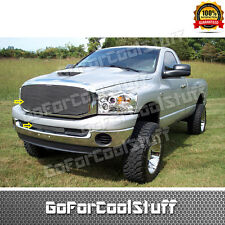 For Dodge Ram 2006 2007 2008 Upper Cutout+Bumper Bolt On Billet Grille Combo Set