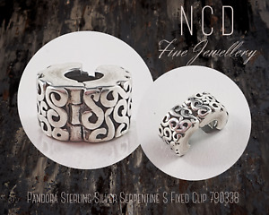 NC Designs Authentic Pandora Sterling Silver Serpentine S Fixed Clip 790338
