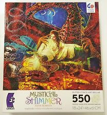 550PC STEVE ROBERTS MYSTICAL SHIMMER UNICORN JIG SAW PUZZLE 550 PIECE USA MADE 3