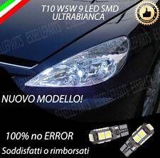 COPPIA LUCI POSIZIONE A 9 LED PER PEUGEOT 607 T10 W5W CANBUS 100% NO ERRORE