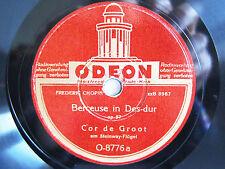 78rpm COR DE GROOT (PIANO) plays CHOPIN Berceuse & Waltz - ODEON BERLIN 1942
