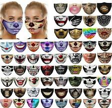 Washable Facemask Half Face Skull Mouth Mark HipHop Cospaly Party One Size Mask0