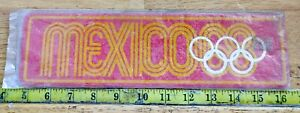 VINTAGE MEXICO 1968 OLYMPICS ROOM / LICENSE PLATE SIGN