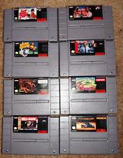 Super Nintendo Game Lot of 8 Top Gear, NBA Bulls vs Blazers,Pit Fighter + More