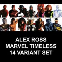 Marvel Alex Ross Timeless Complete Run 14 Variant Comic Set Rare Limited NM